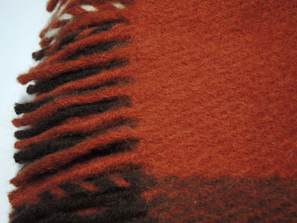 Плед шерстяной Saule Терракот 4000 руб.