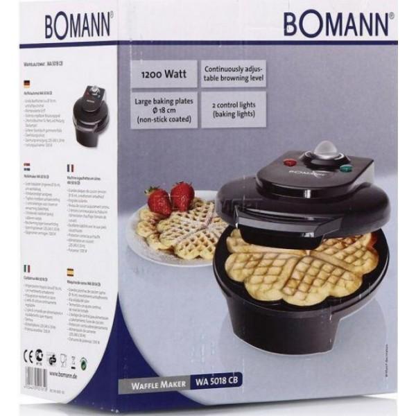 Вафельница Bomann WA 5018 CB schwarz 1999 руб.